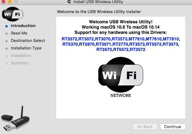 High Sierra için Realtek ve Mediatek USB Wi-Fi Sürücüsü